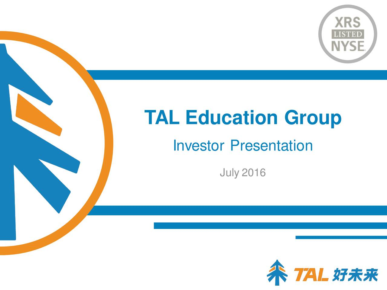 Investor Presentation July 2016