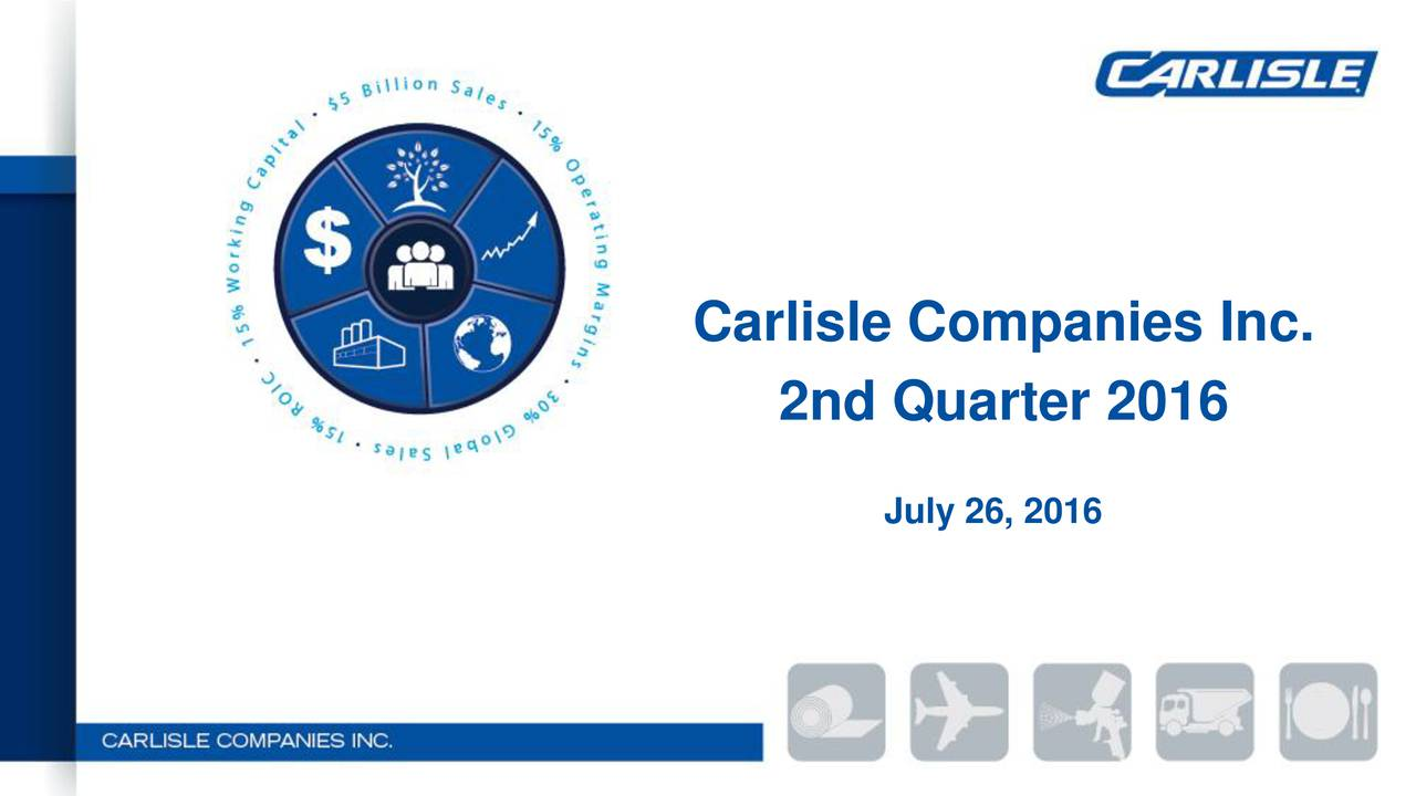 2nd Quarter 2016 July 26, 2016