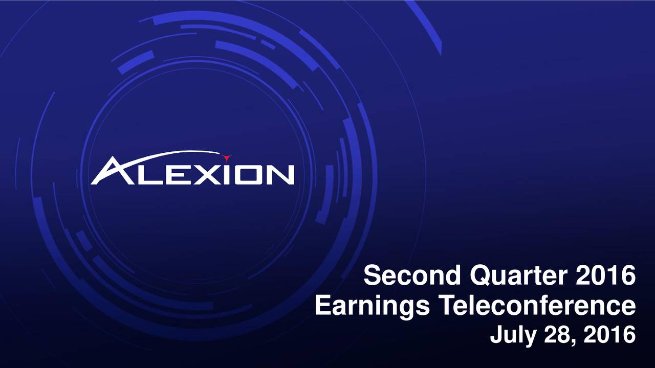 Earnings Teleconference July 28, 2016