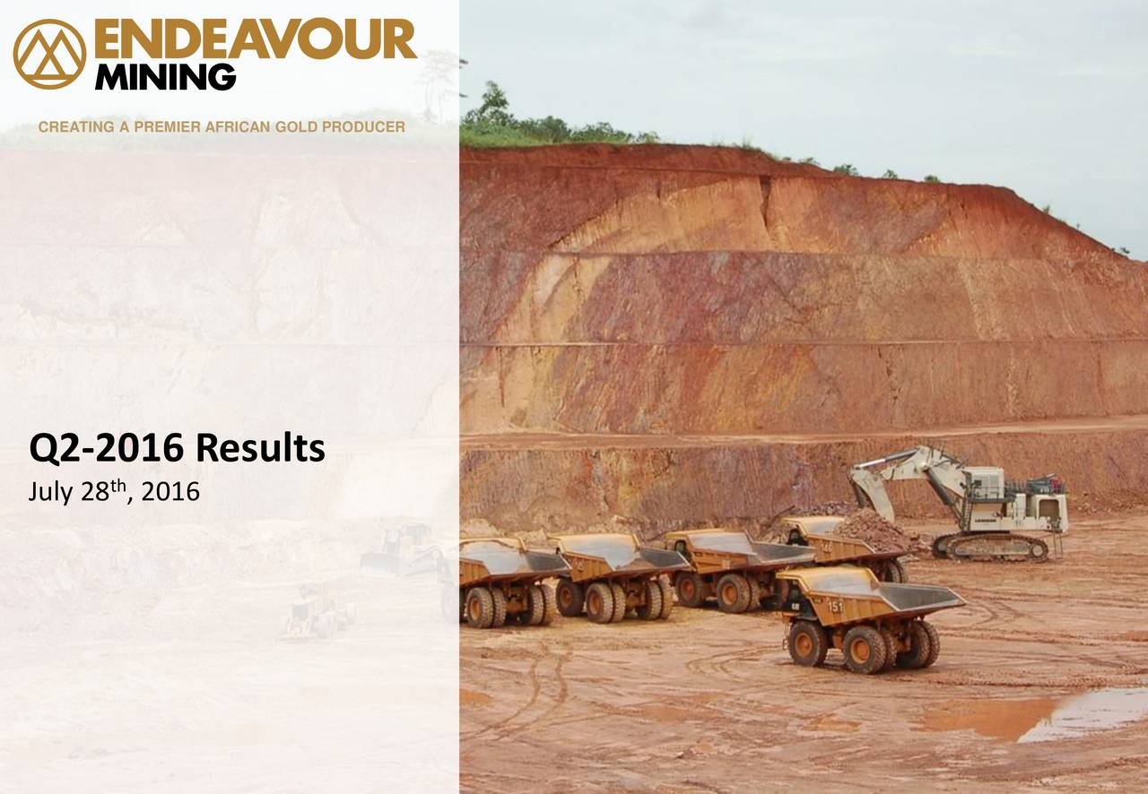 Q2-2016 Results th July 28 , 2016 0