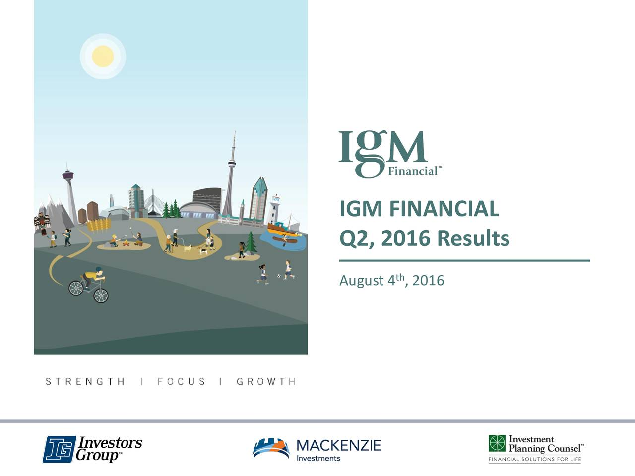 Q2, 2016 Results August 4 , 2016