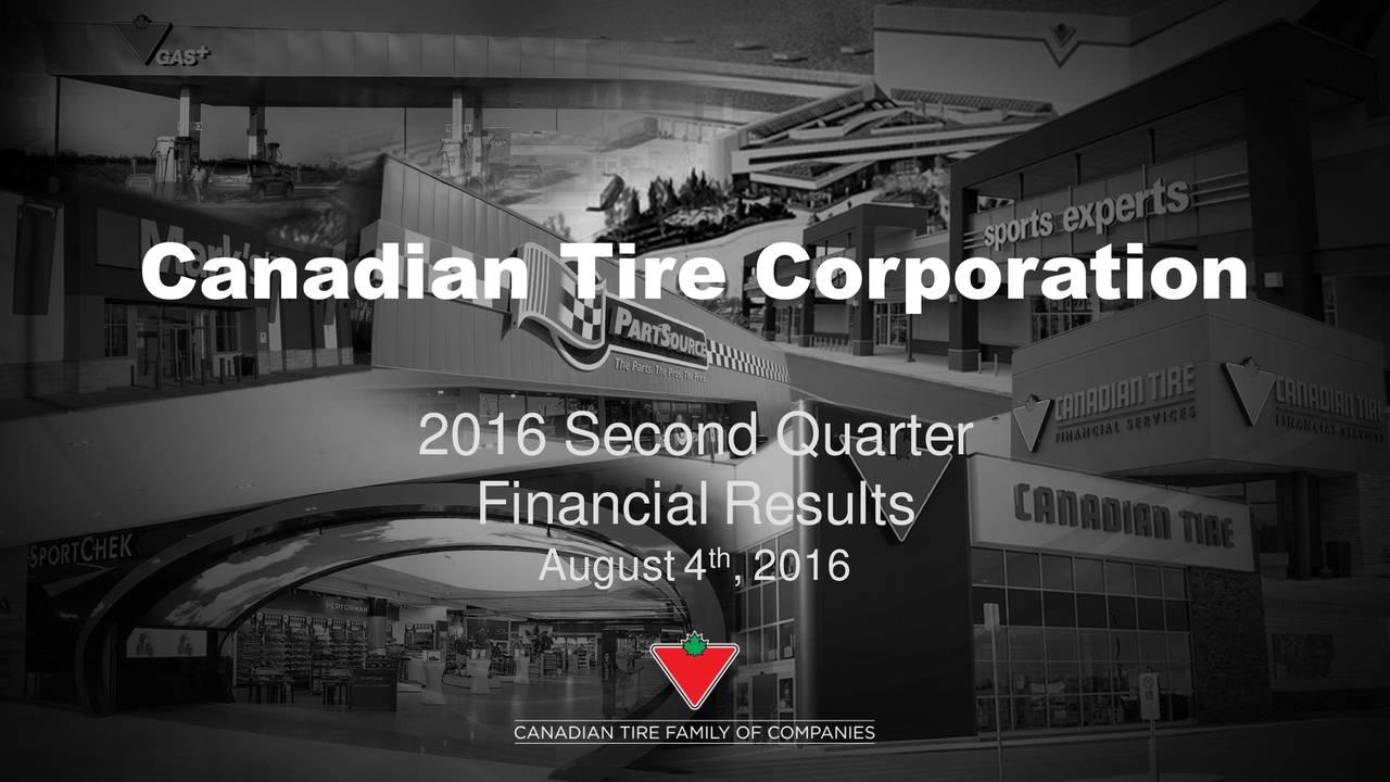 2016 Second Quarter FinancialResults August4 , 2016